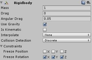 Como congelar coordenadas en la gravedad en Unity 3D