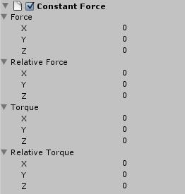 Como añadir una fuerza constante a un objeto en Unity 3D